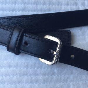 Michael Kors Black leather belt